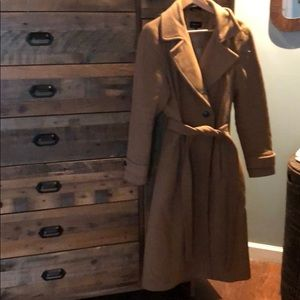 Mackage Camel wool/cashmere blend trench